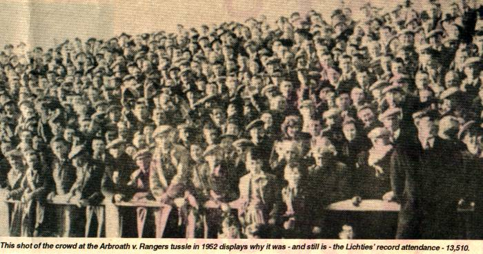 Crowd  v Rangers 1952