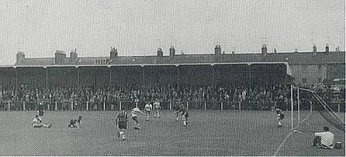 Covered terracing where the new stand is now