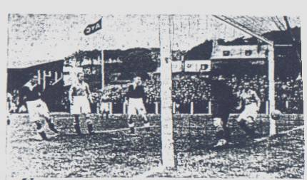Arbroath's first goal in the 1st Division against Albion Rvs.