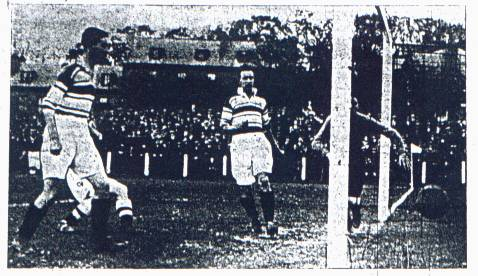 First goal against the Hi-Hi in a 3-1 win in October 1934